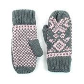 Růžovo-šedé rukavice Candy