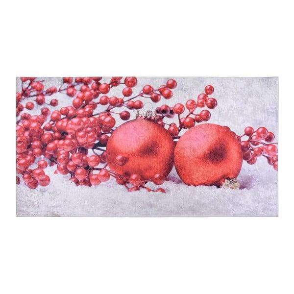 Covor Vitaus Berries, 120 x 160 cm, roșu-alb