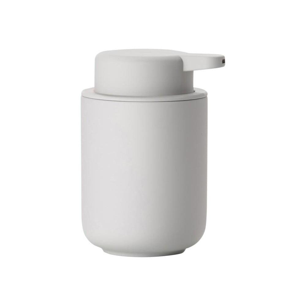 Světle šedý dávkovač tekutého mýdla z kameniny Zone Soft Grey, 250 ml