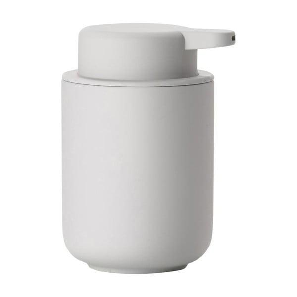 Dispensor din ceramică pentru săpun Zone Soft Grey, 250 ml, gri deschis