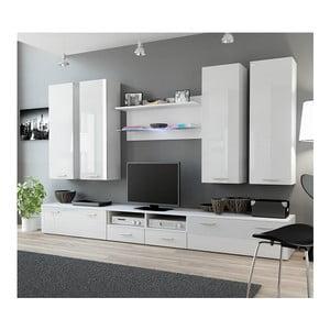 Obývací stěna Rea 3, bílý lesk
