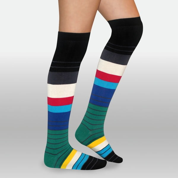 Podkolenky Spectrum Stripes, velikost 36-40