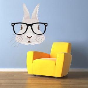 Samolepka na stěnu Hipster Rabbit