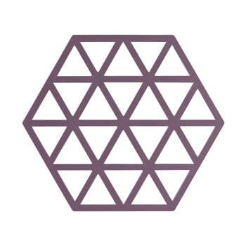 Suport din silicon pentru oale fierbinți Zone Triangles, mov de la Zone