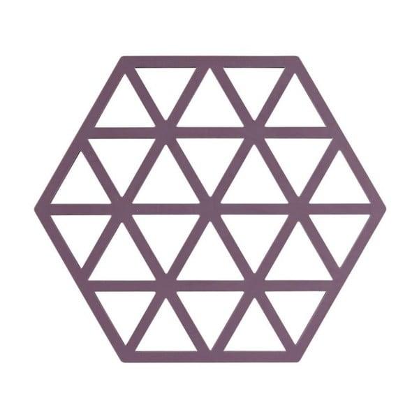 Fialová silikonová podložka pod horké nádoby Zone Triangles