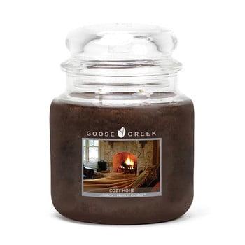 Lumânare parfumată în recipient de sticlă Goose Creek Cozy Home, 75 ore de ardere