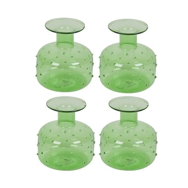 Sada 4 váz Plumetis Bottle, 10 cm