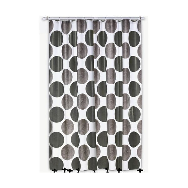 Sprchový závěs Lamara, šedý, 180x200 cm