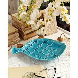 Modrý dekorativní talíř Orchidea Milano Fish