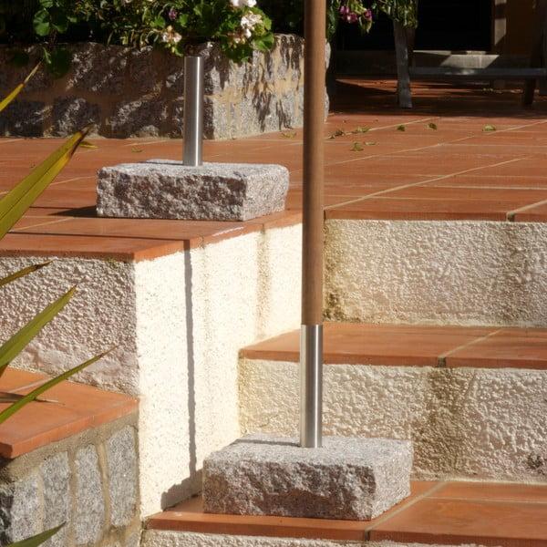 Břidlicový stojan na louč 20 cm, čtvercový