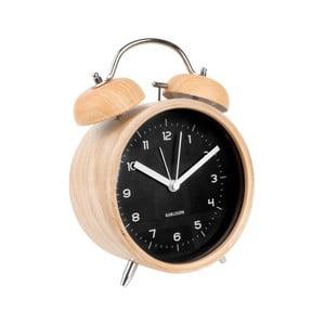 Ceas alarmă Karlsson Classic, decor lemn