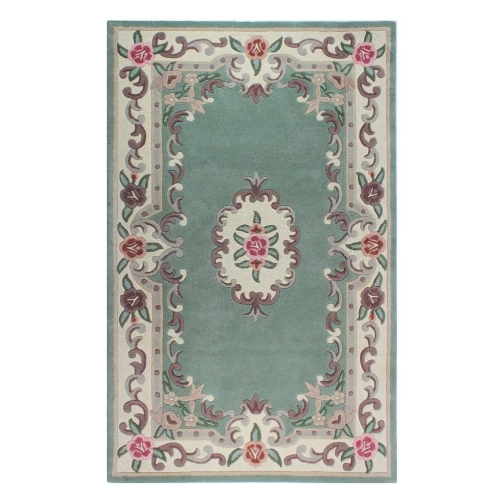 Zelený vlněný koberec Flair Rugs Aubusson, 75x150cm