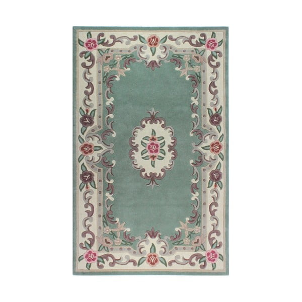Aubusson Green gyapjúszőnyeg, 75 x 150 cm - Flair Rugs