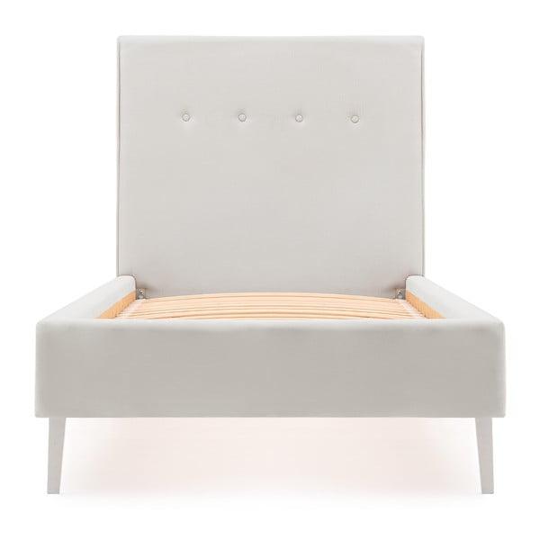 Dětská šedá postel PumPim Mia, 200x90xm