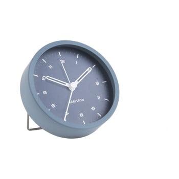 Ceas cu alarmă Karlsson Tinge, ø 9cm, albastru de la Karlsson