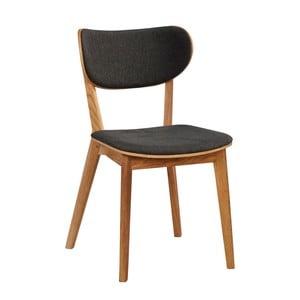 Sada 2 šedých židlí z dubového dřeva  Folke Cato