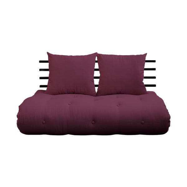 Sofa rozkładana Karup Design Shin Sano Black/Bordeaux