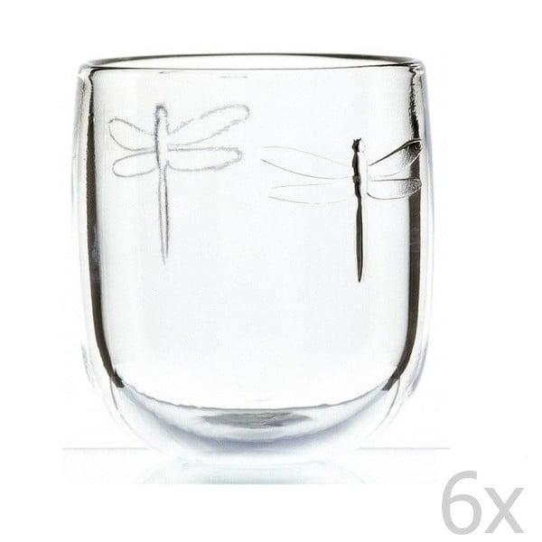 Zestaw 6 szklanek Libellules, 280 ml