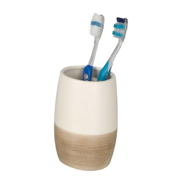 Nature krémfehér fogkefetartó pohár - Wenko