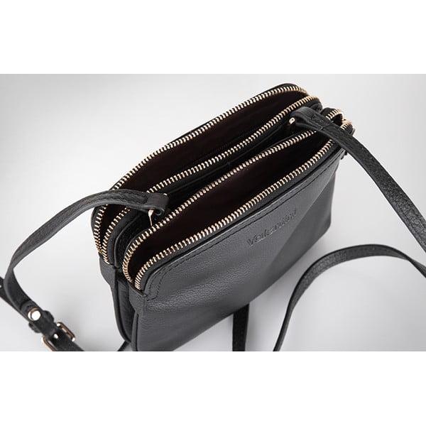 Kožená kabelka Valentini 448, šedá