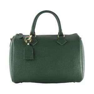 Zelená kožená kabelka Chicca Borse Hannah