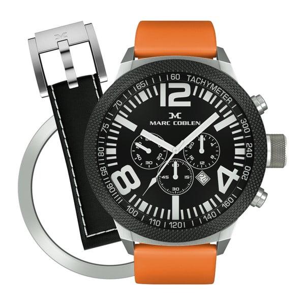 Pánské hodinky Marc Coblen s páskem a kroužkem navíc P56