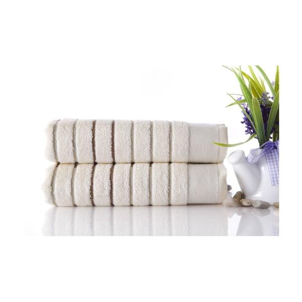 Set dvou ručníků Sport Cream, 50x90 cm