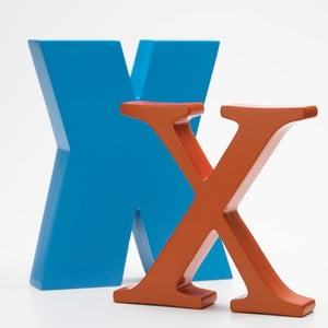 "Malé ""x"" 13x13 cm, oranžová"