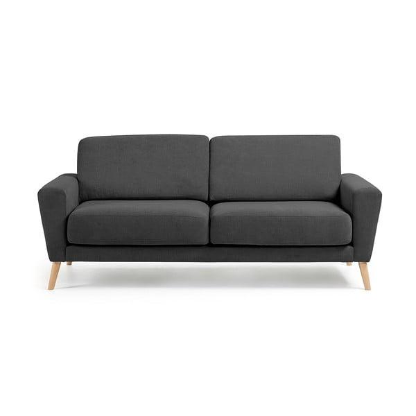 Canapea cu 3 locuri La Forma Guy, gri închis