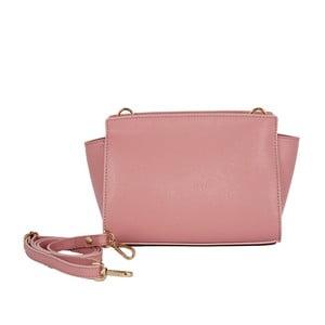 Světle růžová kabelka z pravé kůže Andrea Cardone Mattia