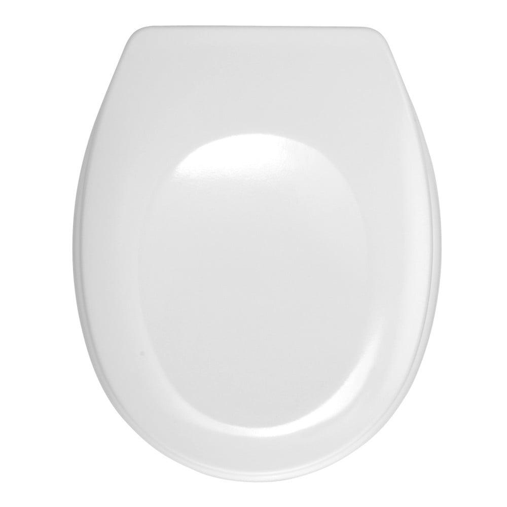 Bílé WC sedátko Wenko Bergamo, 44,4 x 37,3 cm