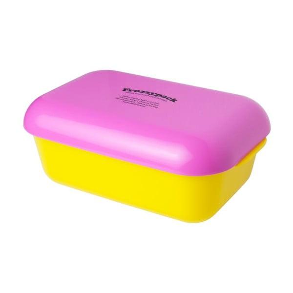 Chladící svačinový box Frozzypack Joyful Edition, yellow/cerise