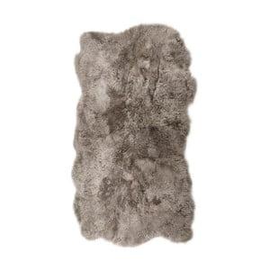 Béžovošedý kožešinový koberec s krátkým chlupem Arctic Fur Nardo, 170x110cm
