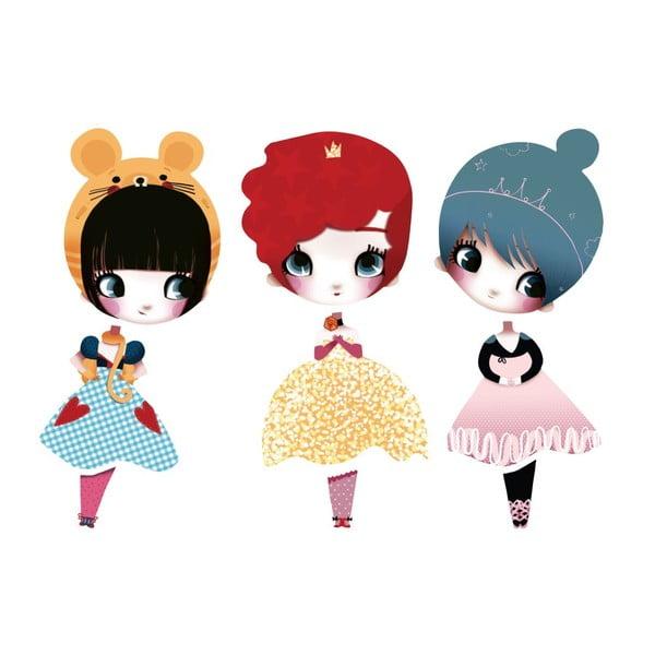 Samolepka Dress Up Dolls Mini I, 3 ks