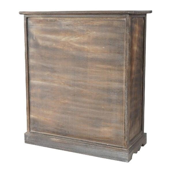 Hnědá dřevěná skříňka Mendler Shabby Vintage