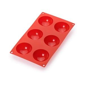 Červená silikonová forma na 6 mini dezertů Lékué