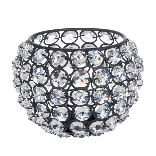 Svícen Glass Ball Gliter, 13,5x13,5x10 cm