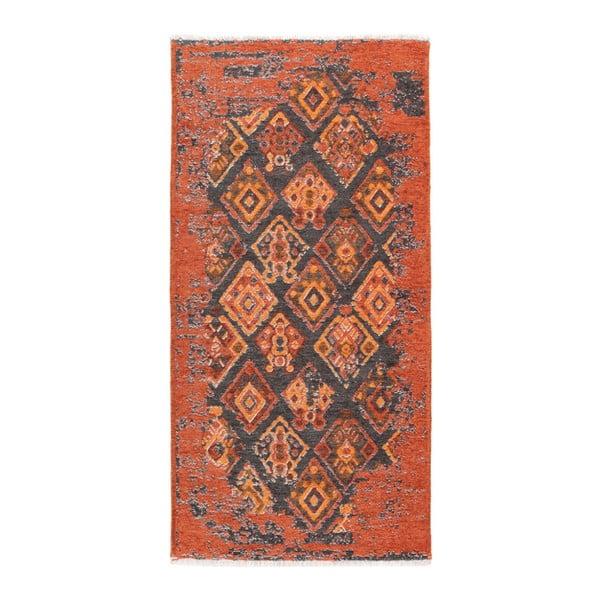 Covor reversibil Homemania Halimod Maya, 77 x 150 cm, maro-portocaliu