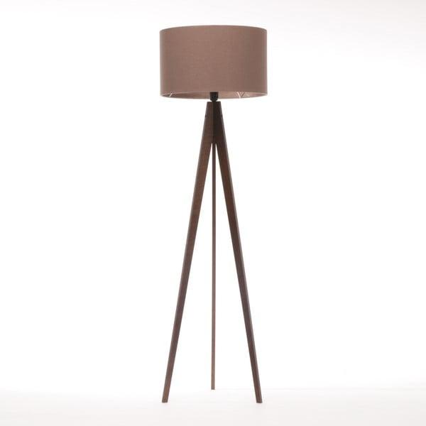 Hnědá stojací lampa 4room Artist, hnědá lakovaná bříza, 150 cm