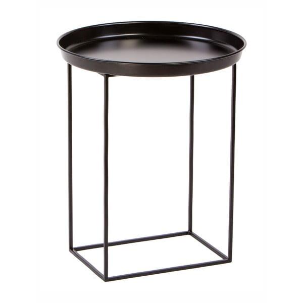 Černý kovový odkládací stolek Nørdifra Ramme, ⌀43cm
