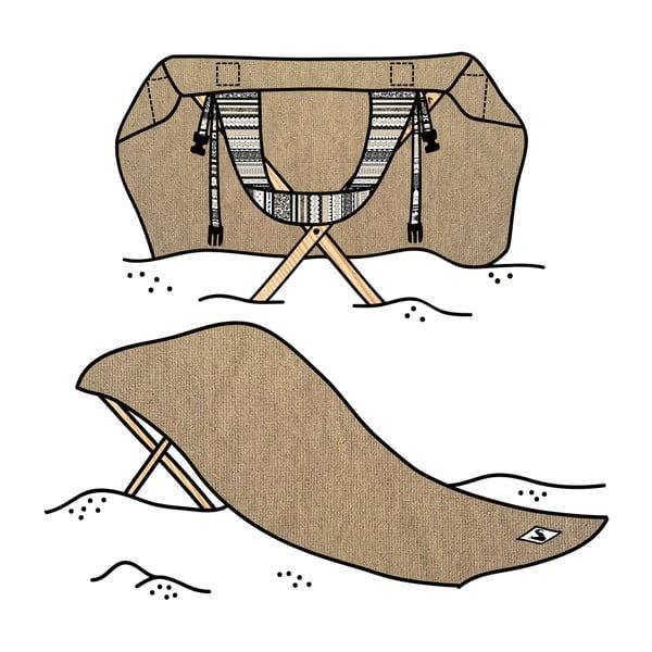 Skládací plážové lehátko a osuška v jednom Sun Seat Sand Tribal