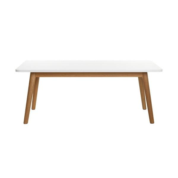 Konferenčný stolík z dreva bieleho duba Unique Furniture Turin