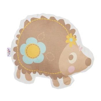 Pernă din amestec de bumbac pentru copii Apolena Pillow Toy Hedgehog, 28 x 25 cm de la Apolena