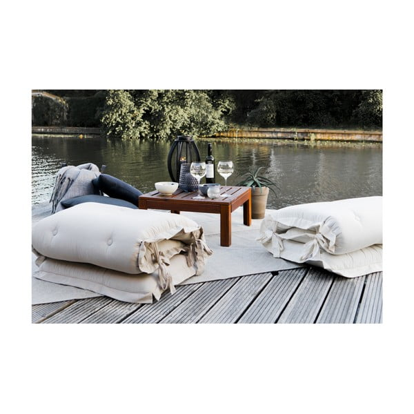 Futon extensibil potrivit pentru exterior Karup Design OUT™ Sit&Sleep Beige, bej