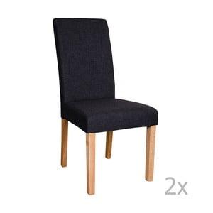 Sada 2 černých židlí House Nordic Mira