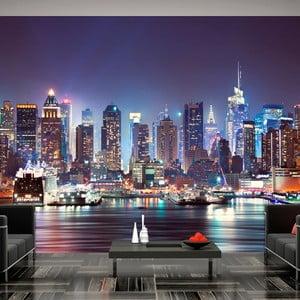 Velkoformátová tapeta Artgeist Night In NY City, 300x210cm