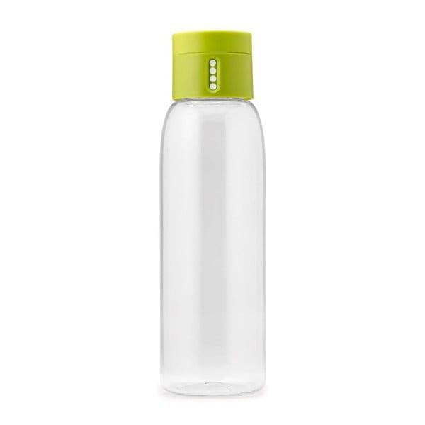 Dot zöld vizespalack számlálóval, 600 ml - Joseph Joseph