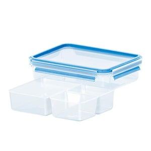 Box na uskladnění jídla Clip&Close + 3 přihrádky, 1.2 l