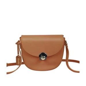 Hnědá kožená kabelka Maison Bag Gil
