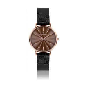 Dámské hodinky s hnědým ciferníkem a černým páskem Frederic Graff